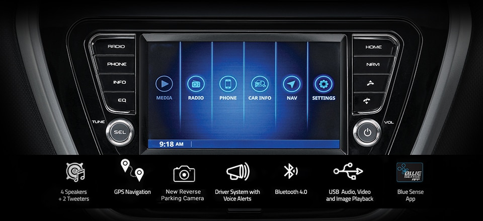 Infotainment system with display screen