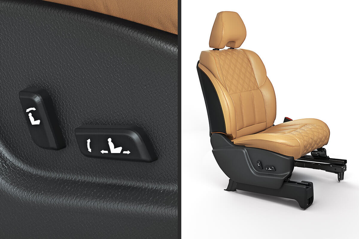 8-Way power-adjustable driver's seat