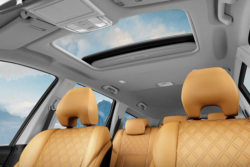 Electronic sun roof with anti-pinch