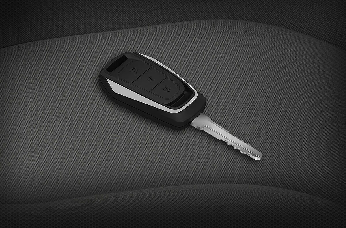 Remote keyless entry with in-remote boot opening