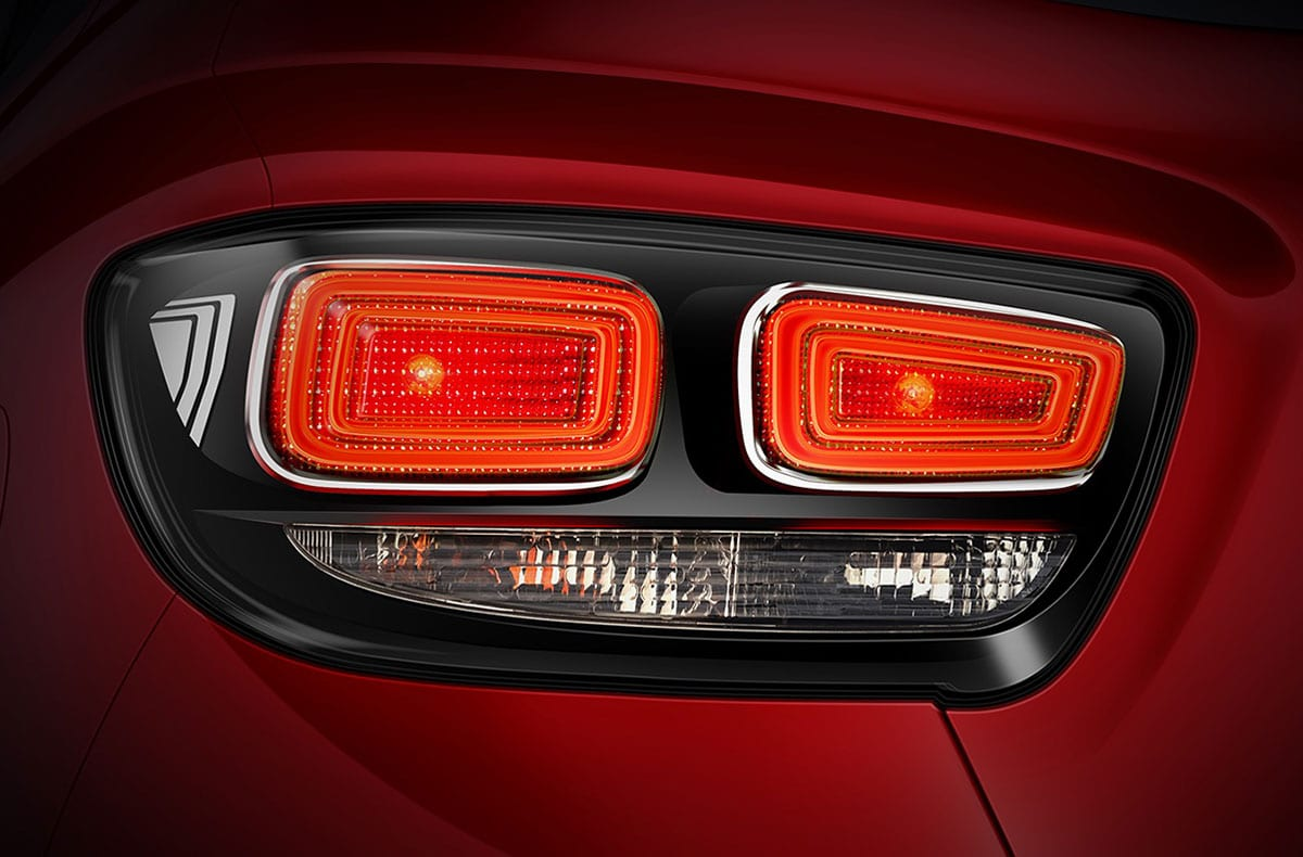 New double barrel clear lens tail lamps