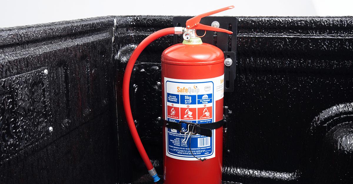 Fire extinguisher – 9kg & Rubberised Load Bin